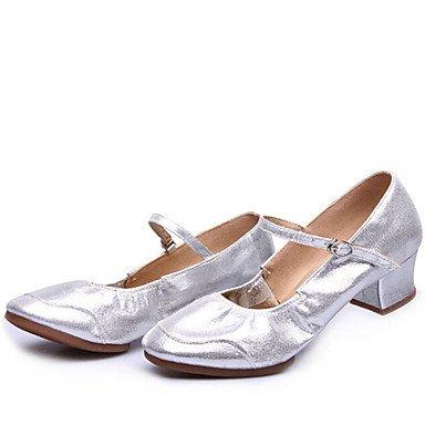 Scarpe da ballo - Non personalizzabile - Da donna - Moderno - Basso - Di pelle - Nero / Argento / Dorato Gold