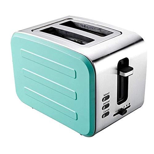 Jsmhh Toaster, Edelstahl Frühstück Maschine, Haus 2 Frühstück Brot-Maschine, 6-Backen-Methoden leicht zu reinigen und rutschfest, geeignet for Küche, Blau