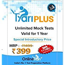 OnlineTyari TyariPLUS Prepaid Card for all Government Exams Test Packages (1500+ Tests)