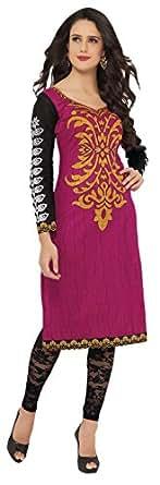 KANHEYAS Women's Cotton Pink Kurta (Kmtsd995)