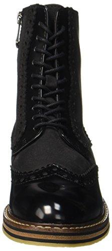 Marco Tozzi Premio Damen 25256 Combat Boots Schwarz (Black Ant.Comb)