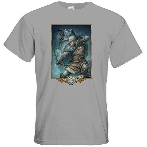 getshirts - Das Schwarze Auge - T-Shirt - Götter - Firun pacific grey