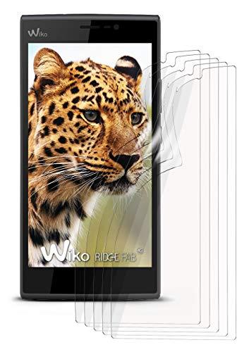 moex 5X Wiko Ridge Fab 4G | Schutzfolie Klar Bildschirm Schutz [Crystal-Clear] Screen Protector Display Handy-Folie Dünn Bildschirmschutz-Folie für Wiko Ridge Fab 4G Bildschirmfolie