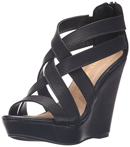 Chinese Laundry Mighty Femmes Synthétique Talons Compensés Oil Black