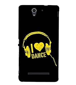 Fuson Premium Back Case Cover I love dance With Black Background Degined For Sony Xperia C3 Dual D2502::Sony Xperia C3 D2533