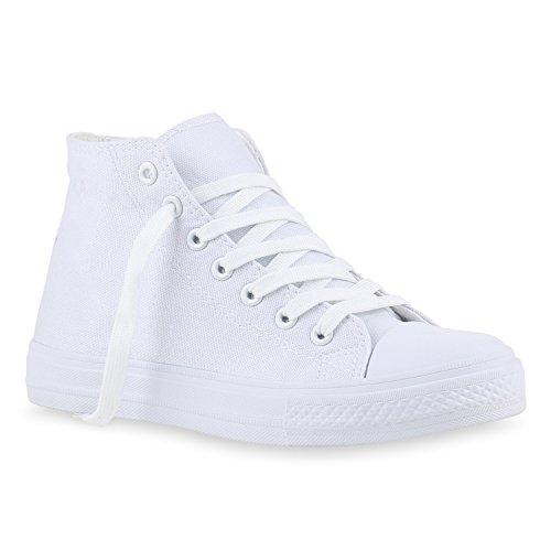 Turnschuhe Weiss Freizeit High Damen Total Sneakers q4w7tn11a