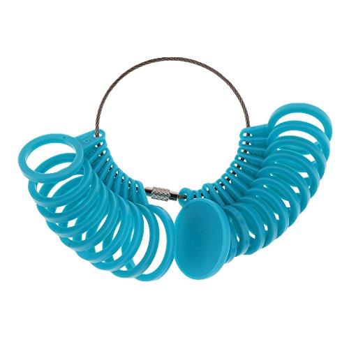 Kunststoff International Ringgrößenmesser Finger Größe Ring Messgerät 4-24 Standard Universal Blau