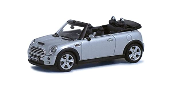 Diecast Model Mini Cooper S Cabriolet In Silver Amazoncouk Toys