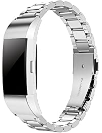 Fitbit Replacement Charge 2 Bracelet, Simpeak Stainless Steel Metal Watch Band Straps For Fitbit Charge 2