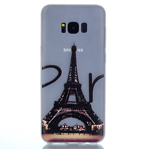 inShang Galaxy S8 Housse de Protection Etui [Transparent Galaxy S8 Coque] [Luminous dans l'obscurité], Ultra Mince et léger Case Cover de Protection