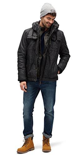 TOM TAILOR Herren Jacke Coated Authentic Jacket Black -hurotherm.eu c87db09ed6