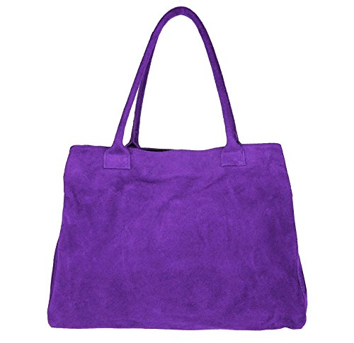 OBC Only-Beautiful-Couture, Borsa a mano donna blu Dunkelblau/Navy 39x30x17 cm (BxHxT) Lila