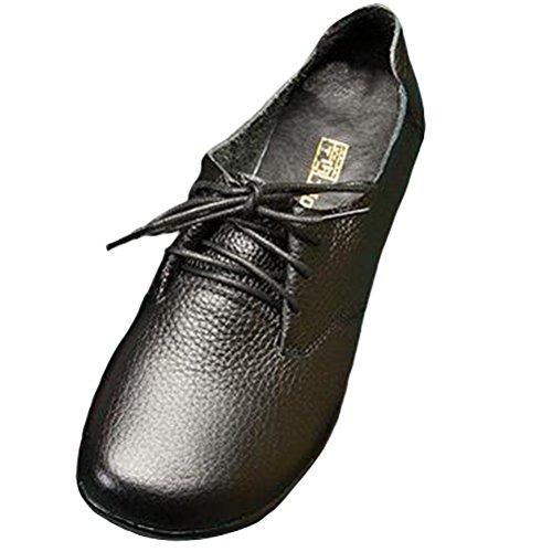 Vogstyle Damen Vintage Low-top Schnürschuhe Schuhe