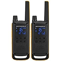 Motorola T82 Extreme PMR446 2-Way Walkie Talkie Radio Twin Pack - Jaune/Noir