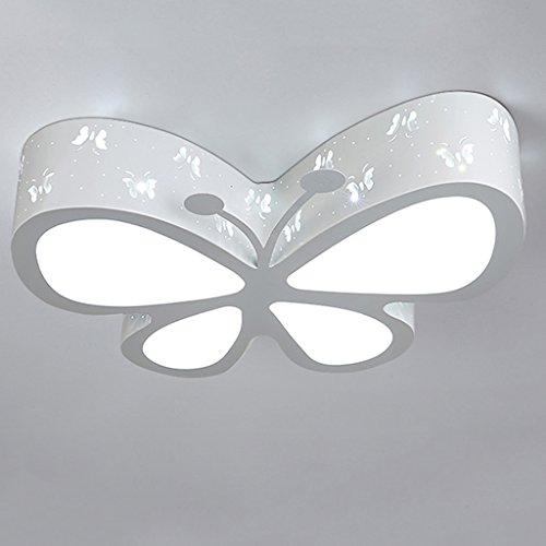 Lampada europea del soffitto della farfalla del ferro, lampada moderna moderna del lampadario a risparmio energetico del led, camera da letto dei bambini camera da letto corridoio luci decorative decorative ( color : white )