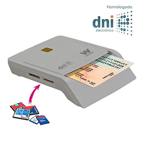 """Lector de tarjetas de memoria: permite leer el nuevo DNI electrónico, es compatible con las tarjetas Smart Cards o """"tarjetas inteligentes"""". Cuenta además con 3 ranuras para tarjetas multimedia que permiten la copia directa entre las diferentes tarjet..."""