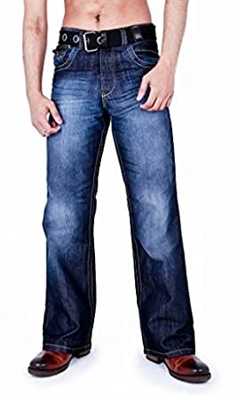 Zico Mens Classic Bootcut Fit Jeans Darkwash 28r