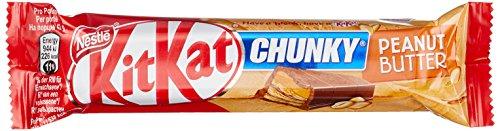 Chunky Schokoriegel (Nestle KitKat Chunky Peanut Butter Schoko-Riegel (Erdnuss-Crème) 24er Pack (24 x 42g) großpackung)