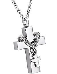 reizteko joyería hombres de acero inoxidable Jesús Cristo Cruz Crucifijo colgante collar xiCBwl3KC