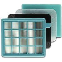 cleanmon ster Juego de filtros Filtro para Aspirador Philips Cartuchos PowerPro Active y Compact fc8058