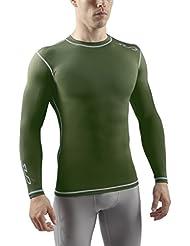 Sub Sports Herren Dual Kompressionsshirt Funktionswäsche Base Layer langarm