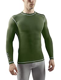 Sub Sports Mens Long Sleeve Compression Top Base Layer Crew Neck - Dual Range