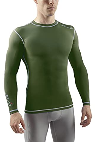 Sub Sports Dual Men's Compression Baselayer Long-Sleeved Top - Green, Small