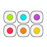 LAV 6tlg. farbige Unterteller-Set aus hochwertigem Glas Untertasse Cay Tabagi Serie Coral Zen