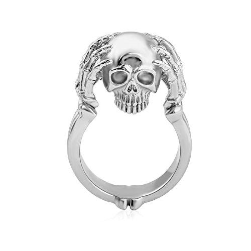 Gothic Design Edelstahl Ring Biker Kopf Cool Männer Ring Größe 6
