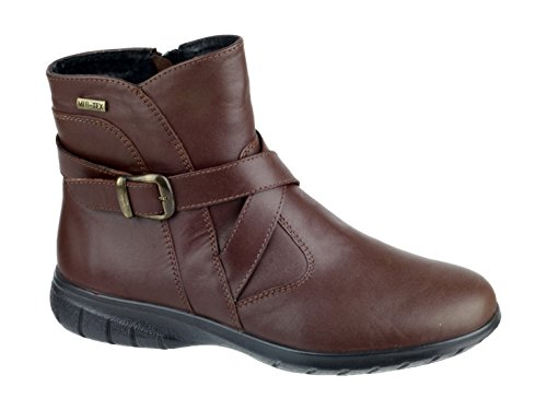 Cotswold Ladies Shipton Leather Zip Fastening Ankle Boot Black brown