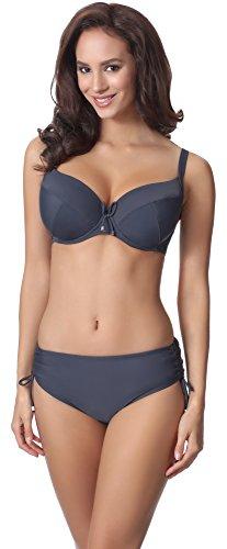 Brief Kostüme C (Merry Style Damen Bikini Set P61830 (Graphite, Cup 100 C / Unterteil)