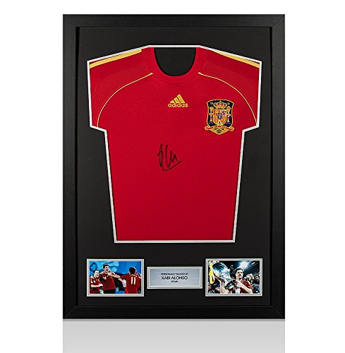 Framed-Xabi-Alonso-Signed-Spain-Shirt-Front-Signed-2008-Home