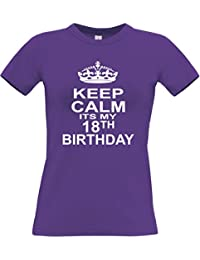 KEEP CALM IT'S MY 18TH BIRTHDAY' Women's Fitted T-Shirt