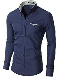 MODERNO Slim Fit Coton Casual Chemise Homme (VGD063LS)