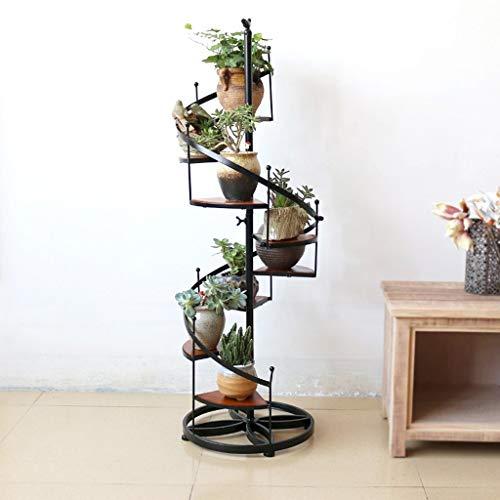 ZR Spiral-Blumenständer, bodenstehender Balkon-Wohnzimmer-Präsentationsständer, mehrschichtiger Blumentopf-Dekorationsständer