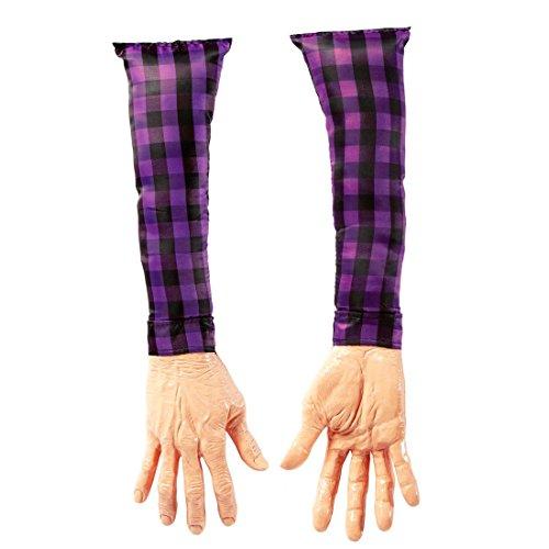 Abgetrennte Arme Horror Leichenteile Hände Schocker Artikel Leiche Scherzartikel Fun Handattrappe Halloween (Leichenteile Halloween)
