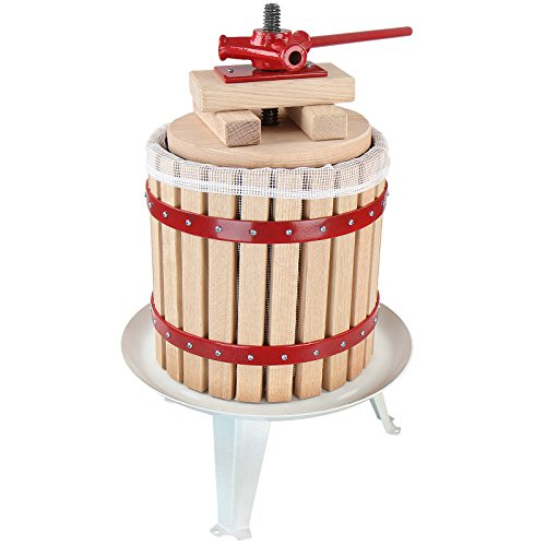 Jago Manual Wooden Fruit Press for Homemade Juice, Wine and Apple Cider Making (Volume of Choice)
