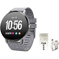 Eruditter Brazalete de Fitness con pulsómetro Resistente al Agua IP67Fitness Tracker Actividad Tracker Pulso Relojes podómetro Smartwatch Reloj Alarma con Vibración Llamada SMS