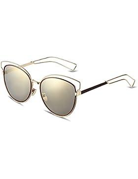 Ilove EU Mujer Gafas de sol creativo elegante gato ojos Metal marco Aviator Gafas Gafas de sol 4colores a elegir.