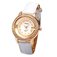 Stayoung Jewellery Simple White Strap Analogue Display Quartz Watches for Women Girls Birthday Gift