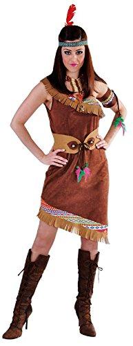 M213104-XS braun Kurzarm Damen Indianerkleid Damenkleid - Sexy Cow Girl Kostüm