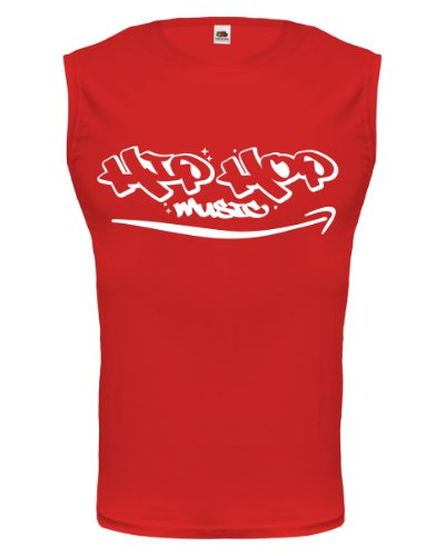 buXsbaum® Tank Top Hip Hop Music Red-White
