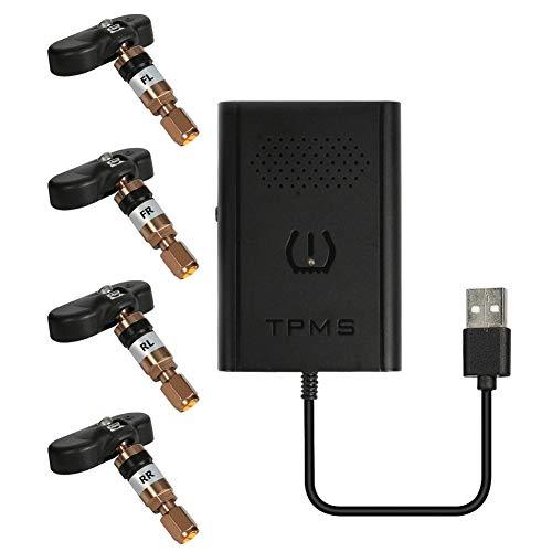 AFFEco USB Android TPMS Sistema di monitoraggio della Pressione Pneumatici per Auto con 4 sensori Int