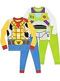 Disney Jungen Toy Story Schlafanzug 2 Packung Slim Fit Mehrfarbig 104