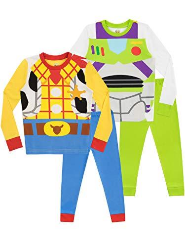 Disney Jungen Toy Story Schlafanzug 2 Packung Slim Fit Mehrfarbig 110 (Herren Buzz Lightyear Kostüm)