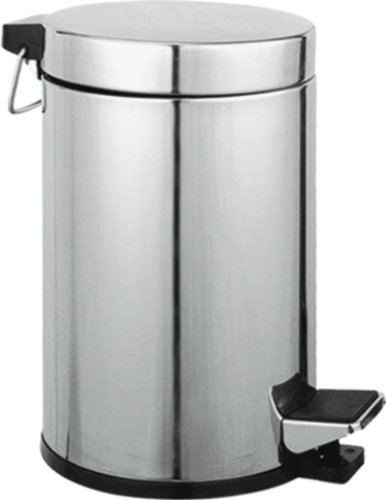 Maurer cestino porta rifiuti per wc acciaio inox cromato capacita' 5 lt 20x27h cm