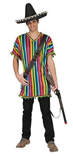 (Karneval-Klamotten Hippie Hemd Herren Bunt 60er Jahre 70er Jahre Herren-Kostüm Größe 56/58)