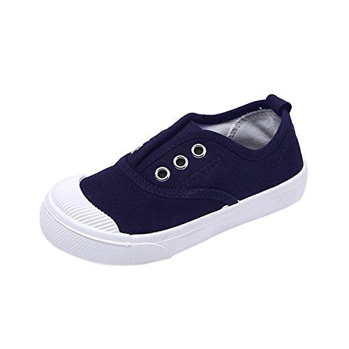 Topgrowth Sneakers Bambina Ragazzo Ragazza Scarpe di Tela Tinta Unita Carina Scarpe per bambini Primavera 6 Mesi-8 Anni (29, Blu Marino)