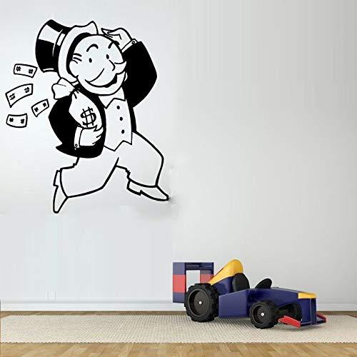 jiushizq Brettspiel Guy Poster Geld Vinyl Wandaufkleber Für Kinderzimmer Kinder Schlafzimmer Home Art Decor Vinyl Wandtattoos Rosa 42X48 cm (Kindle Brettspiele)