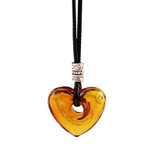 sharprepublic Wesentliche Flasche Diffusor Parfüm Herz Glas Anhänger Halskette - Champagner -